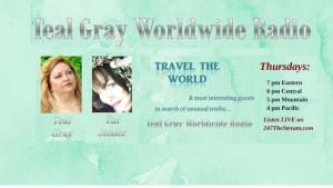 Teal Gray Worldwide Radio