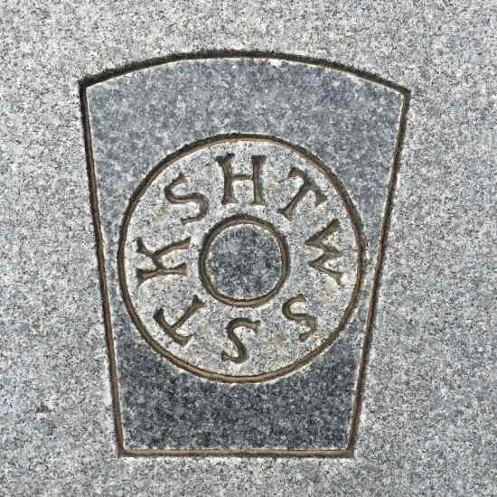 "The acronym ""HTWSSTKS"" on a headstone. (photo by Tui Snider)"