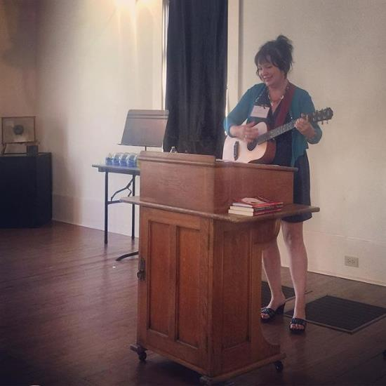 I was honored & thrilled to give a mixed genre presentation at the 2015 Langdon Review Weekend in Granbury, Texas (photo by Larry Snider)