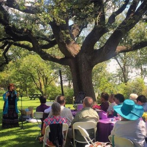 We heard poetry under the Poet Tree at the 2015 Langdon Review Weekend in Granbury, Texas (photo by Tui Snider)