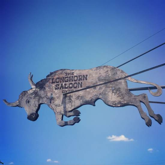 Longhorn Saloon sign in Fort Worth, Texas ( photo by Tui Snider)
