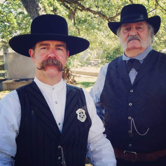 Impressive mustaches at the Saints & Sinners Tour in Fort Worth, TX (photo by Tui Snider)