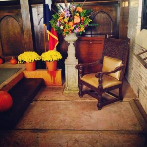 There's a trap door in the chapel floor - for raising & lowering coffins! (photo by Tui Snider)