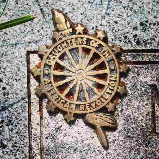 DAR emblem on a grave (photo by Tui Snider)