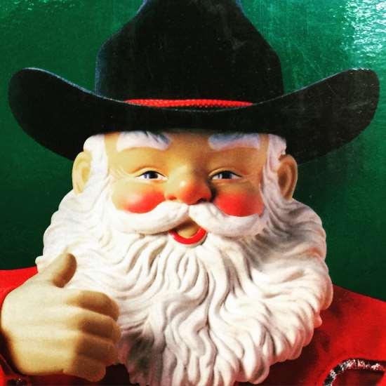 Cowboy Santa Claus (photo by Tui Snider)
