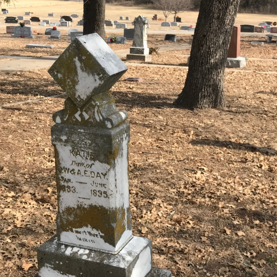 What does a cube symbolize on a headstone? (photo by Tui Snider)