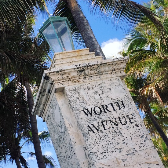 Worth Avenue in Palm Beach, Florida (photo by Tui Snider)