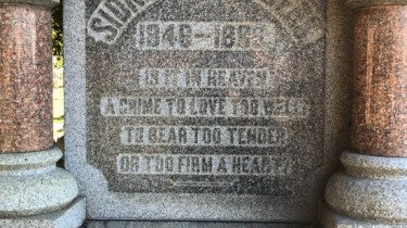 Sidney Saunders' grave in Monroe, LA (photo by Tui Snider)