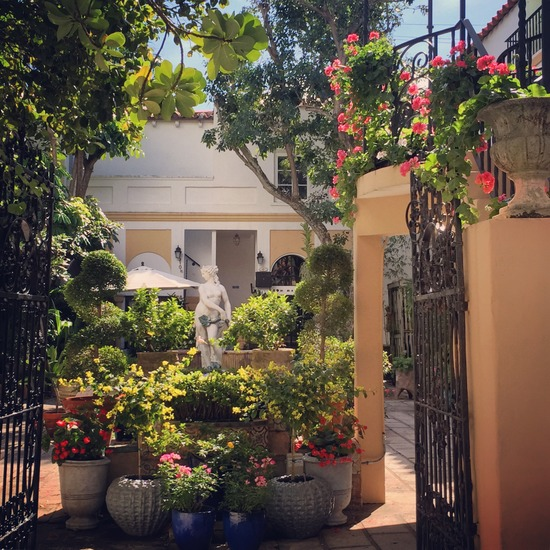 One of many garden courtyards along Worth Avenue (photo by Tui Snider)