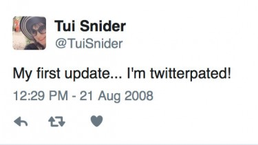 My first tweet - way back in 2008!