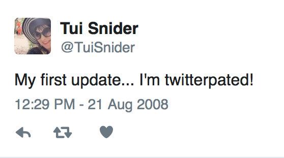 My first tweet - way back in 2008!