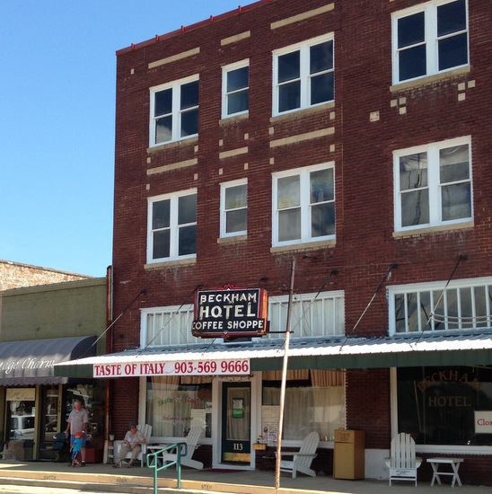 Beckham Hotel in Mineola, TX (photo by Tui Snider)