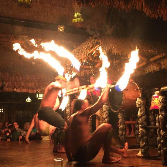 Polynesian fire dancers at the Mai Kai Restaurant & Tiki Bar in Ft Lauderdale, FL (photo by Tui Snider)