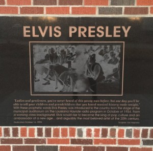 Elvis Presley statue at the Shreveport Municipal Memorial Auditorium (photo by Tui Snider)