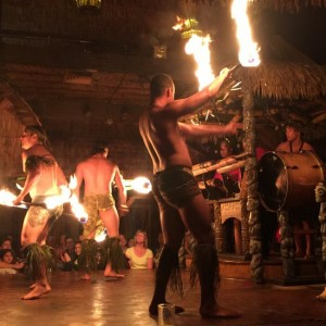 Polynesian fire dancers at the Mai Kai Restaurant & Tiki Bar in Ft Lauderdale, FL (photo by Tui Snider)
