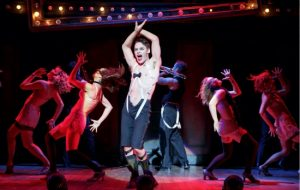 Randy Harrison as theEmcee and the 2016 National Touring cast of Roundabout Theatre Company's CABARET. Photo by Joan Marcus.