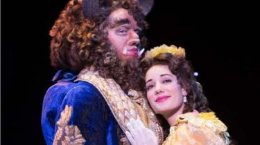 The Beast (Sam Hartley) & Belle (Brooke Quintana) in Disney's Beauty & the Beast