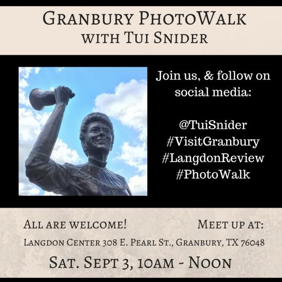 550 002 Granbury PhotoWalk with Tui Snider