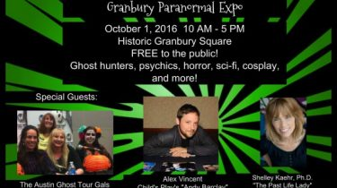 Image provided courtesy of the Granbury Paranormal Expo