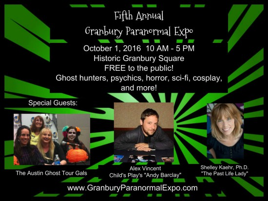 Image provided courtesy of the Granbury Paranormal Expo