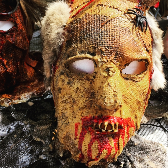 Creepy Halloween mask for sale at the Granbury Paranormal Expo (photo Tui Snider)