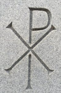 The Chi Rho symbol helped me learn the true meaning of Xmas! (photo by Tui Snider)