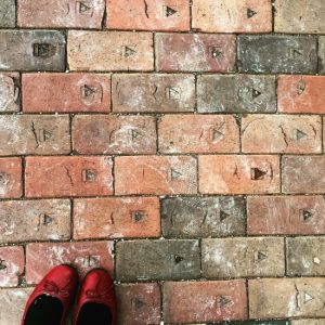 You can find Thurber bricks all over Texas! (photo by Tui Snider)