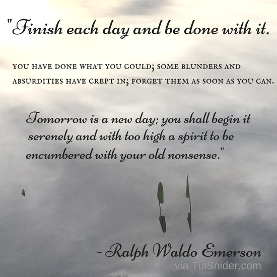 I love this Ralph Waldo Emerson quote. (graphic by Tui Snider)