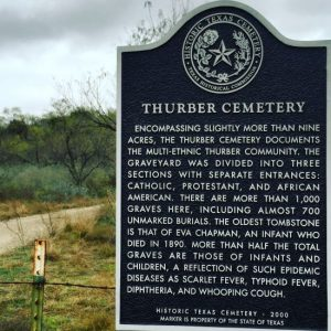 Thurber Cemetery sign (photo by Tui Snider)