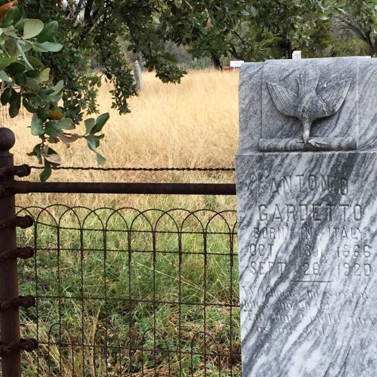 Beautiful headstone in historic Thurber Cemetery. (photo by Tui Snider)