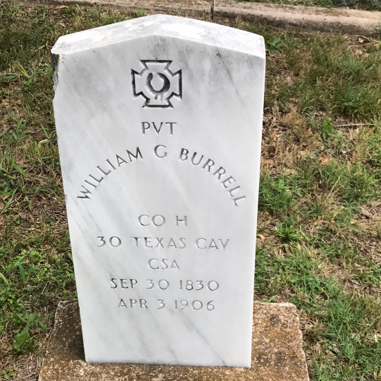 Civil War Type headstone for a confederate soldier. (photo by Tui Snider)