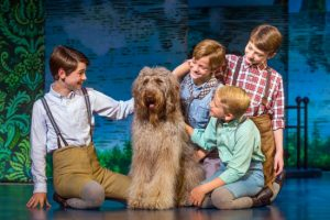 Boys and Porthos, the dog, in Finding Neverland Credit Jeremy Daniel