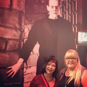 Miranda Enzor & Me at Houston's Funeral HIstory Museum