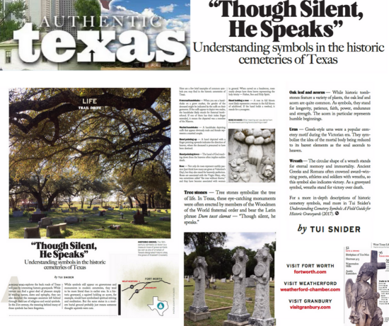 Article & photos in Authentic Texas by Tui Snider