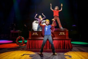 (From L) Carly Gold as 'Small Alison', Luké Barbato Smith as 'Christian' and Henry Boshart as 'John' in Fun Home (c) Joan Marcus