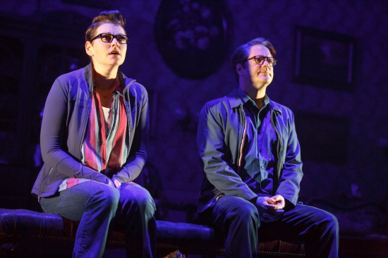 Kate Shindle as 'Alison' and Robert Petkoff as 'Bruce' in Fun Home (c) Joan Marcus