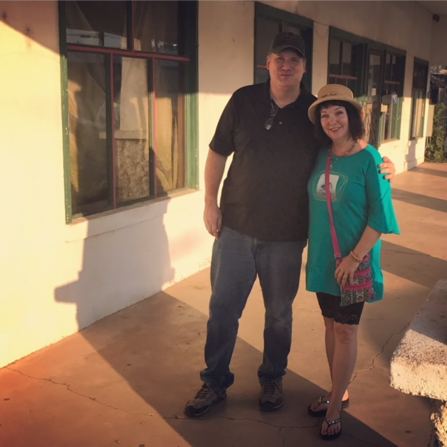 Pre ghost hunt photo with OPH owner, Dan Lafave (photo by Larry Snider)