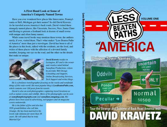 Author of Less Beaten Paths of America: Unique Town Names (c) David Kravetz