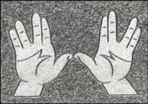"(c) Tui Snider - ""Spock Hands"" aka ""Cohen Hands"""