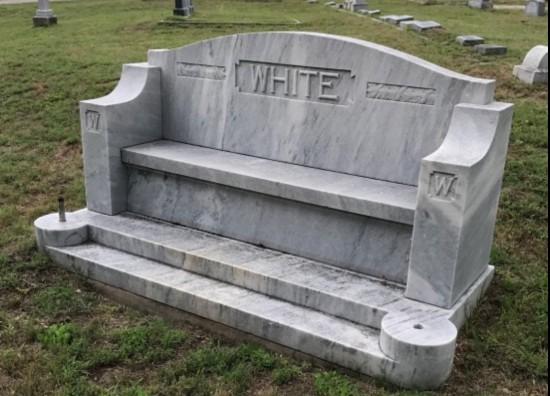 (c) Tui Snider - cemetery bench