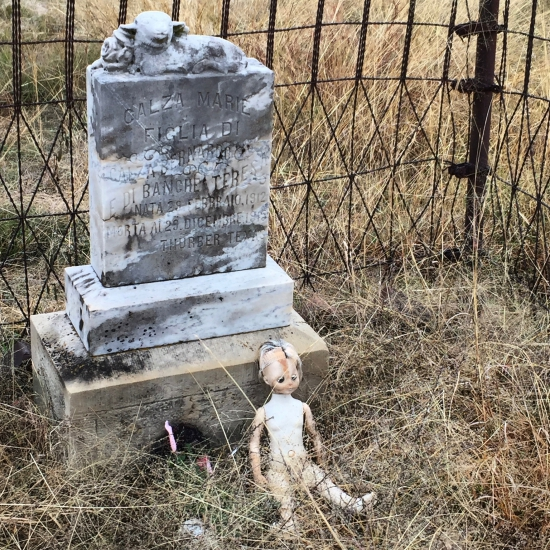 (c) Tui Snider - Doll on a child's grave in Thurber, TX