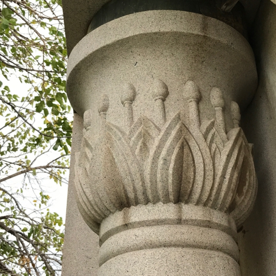 (c) Tui Snider - Egyptian style columns are often topped with lotus flower designs.