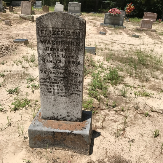 (c) Tui Snider - Denson Cemetery is one of the few remaining scraped graveyards in Texas.