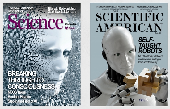 Faux future magazine covers. (Images provided courtesy of Black Flag Theatre Co)