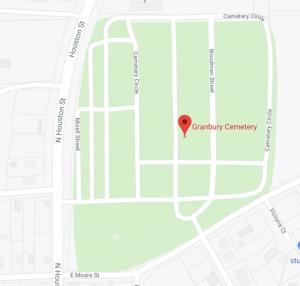 Map of Granbury Cemetery in Granbury, TX