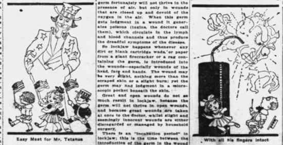 1912 newspaper article warning about the dangers of tetanus. via TuiSnider.com