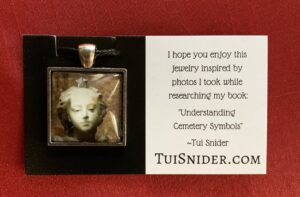 Here's an example of how the actual glass cabochon pendant necklaces look! (c) Tui Snider