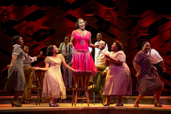 (Sandie Lee, Company of the National Tour, THE COLOR PURPLE © JEREMY DANIEL)