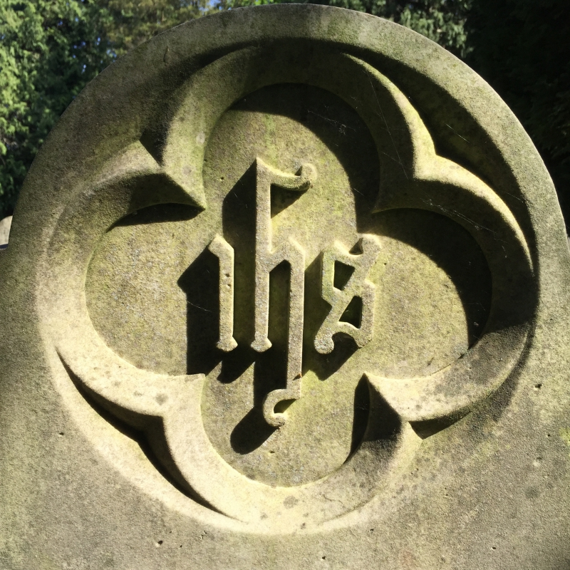 The IHS emblem usually appears on a cross. Photo (c) Tui Snider