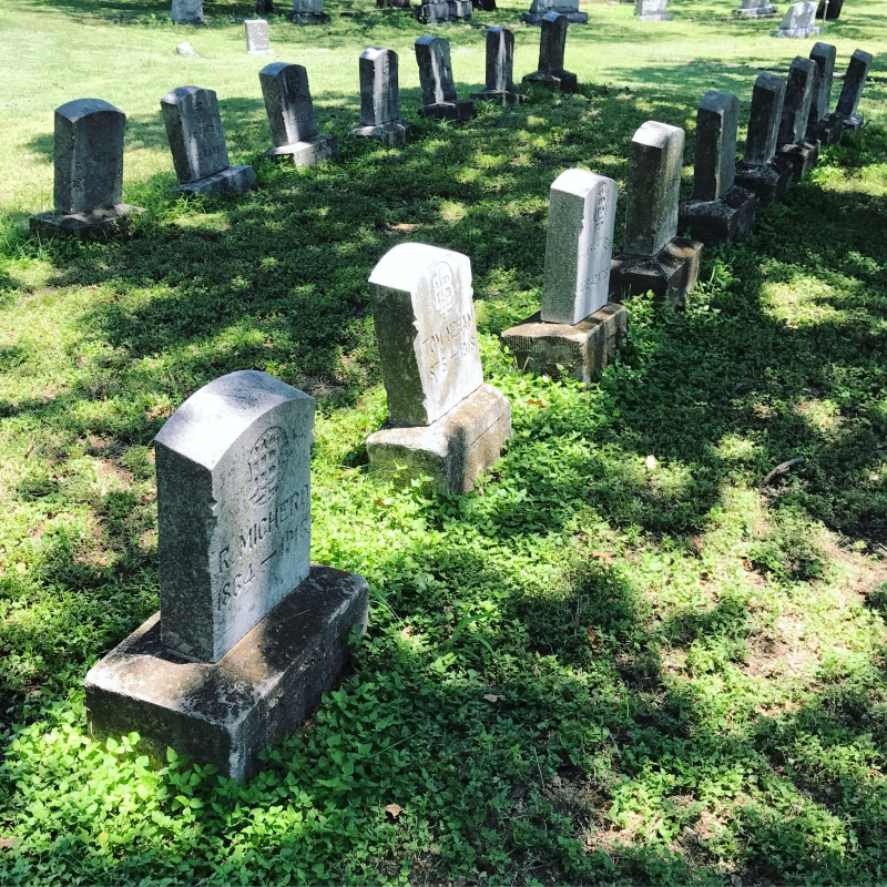 Bartenders Row in Oakwood Cemetery. photo (c) Tui Snider